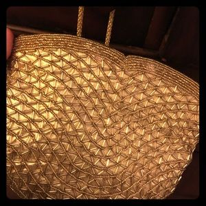Gold beaded by hand lord and Taylor purse pocket